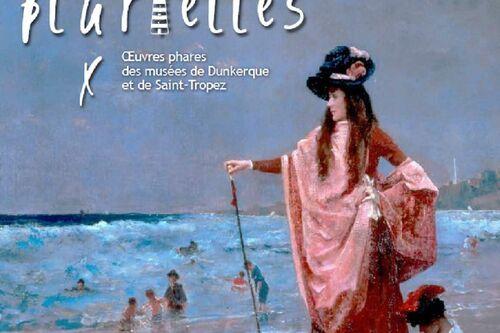 Affiche de l'exposition - Sur la plage de Sainte-Adresse, huile sur toile par Alfred Stevens (coll. MBA Dunkerque)