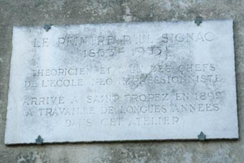 Plaque commémorative apposée sur la maison de Paul Signac