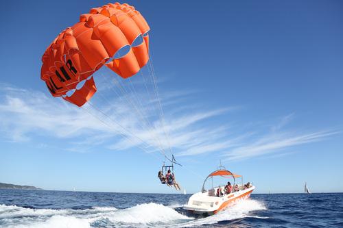 Vol parachute ascensionnel