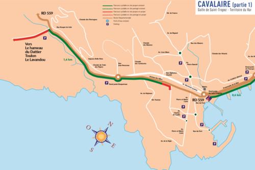 Plan vélo Cavalaire - partie 1