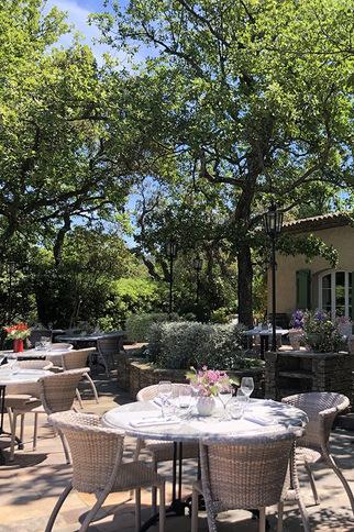 Restaurant La Verdoyante en juillet