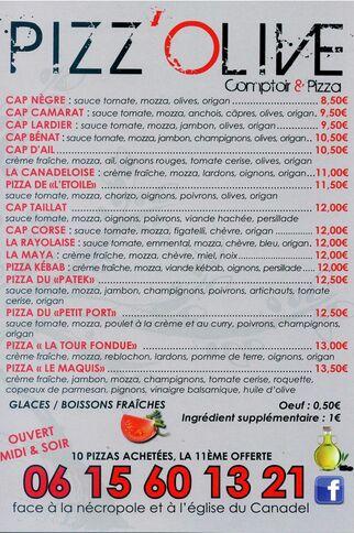 Pizz'Olive Encart Publicitaire